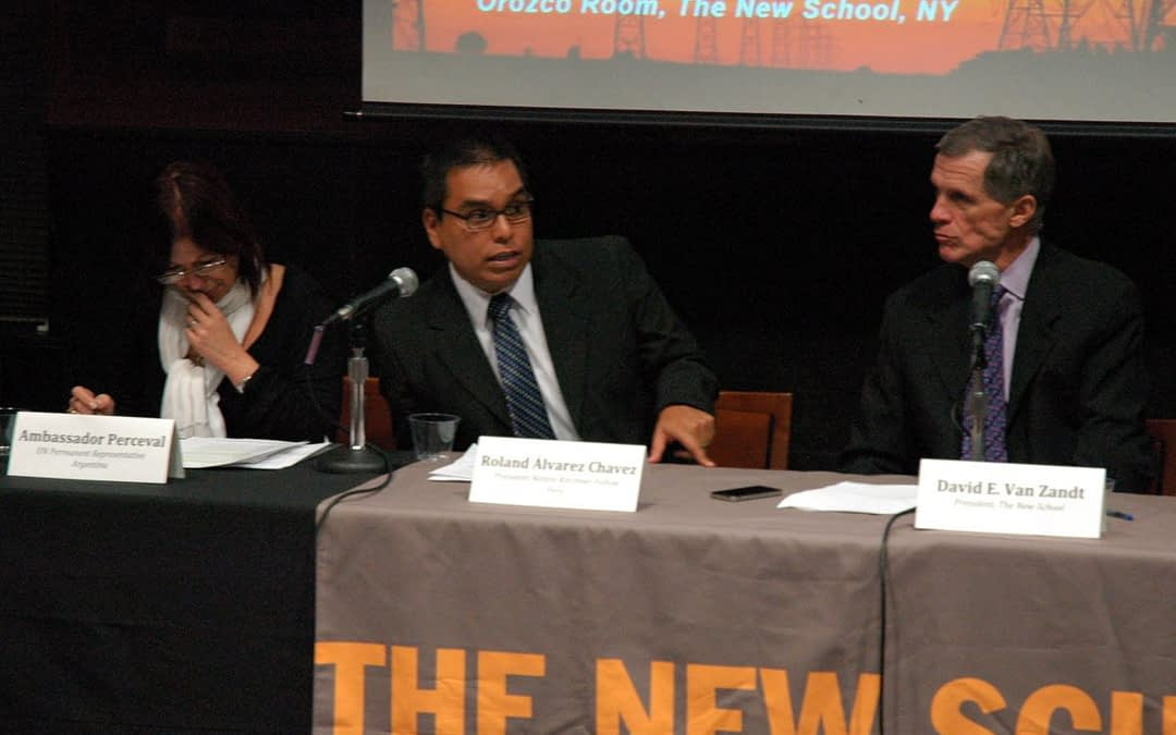Roland Álvarez Chavez, Third President Néstor Kirchner Fellow 2012-2013, successfully completed an enriching academic exchange at The New School