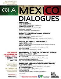 México dialoga: serie de diálogos entre el sector público, la sociedad civil  y la academia