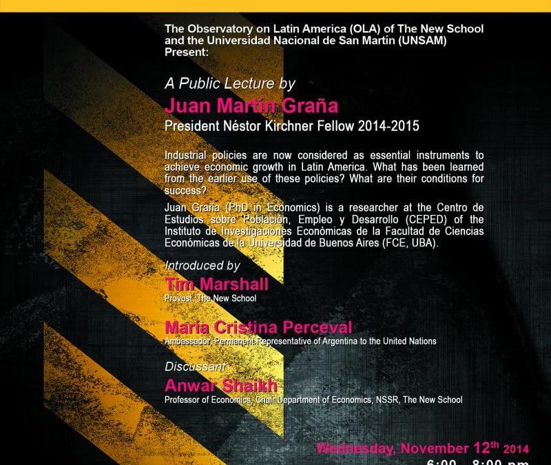 Conferencia Pública por Juan Martín Graña, Becario PNK 2014-2015