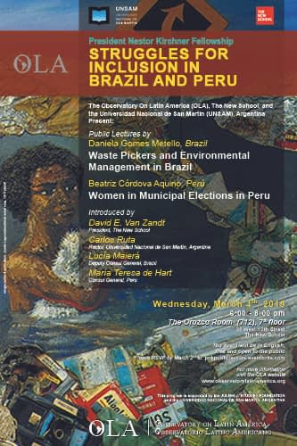 Public Lecture by Daniela Gomes Metello and Beatriz Córdova Aquino, 2014-2015 PNK Fellows