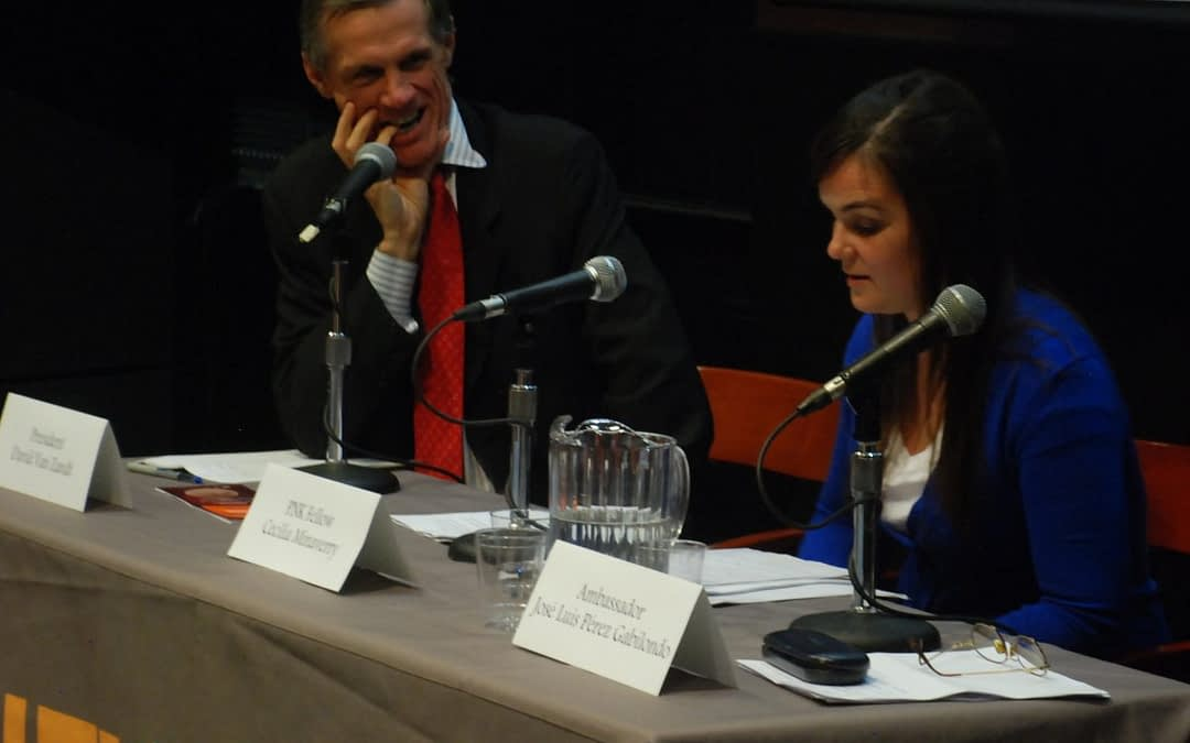 The three 2012-2013 President Néstor Kirchner Fellows completed an intensive agenda in New York