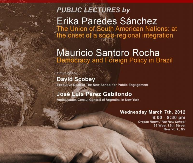Public Lecture by Erika Paredes Sánchez and Mauricio Santoro Rocha, 2011-2012 PNK Fellows