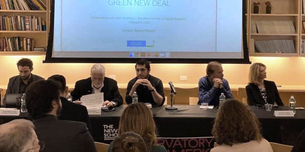 "Resumen de evento · Seminario ""A Green New Deal to Latin America: challenges to Brazil"""