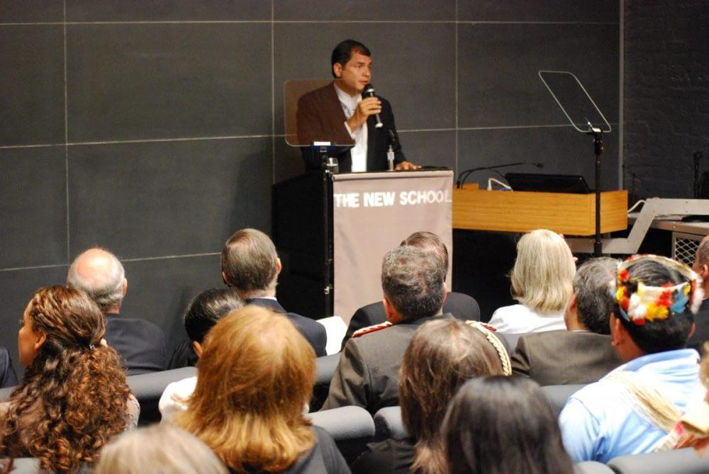 President Correa Introduced Yasuní-ITT, his environmental campaign, at the OLA