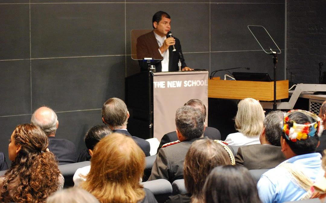 El Presidente de Ecuador Rafael Correa presentó su novedoso proyecto ecologista Yasuní-ITT