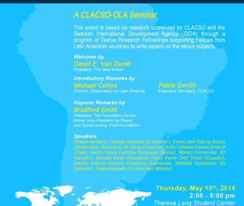 Thirty Years of Democracy in Latin America, CLACSO-OLA Seminar