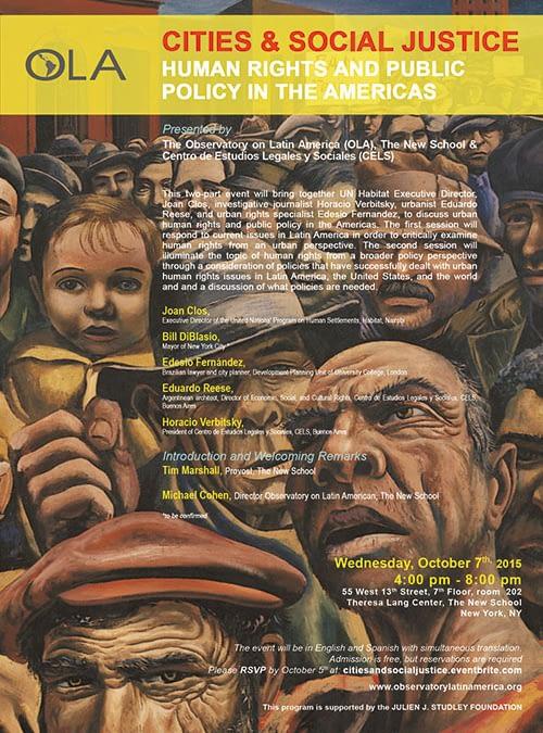 Ciudades y Justicia Social: Derechos Humanos y Políticas Públicas en las Americas