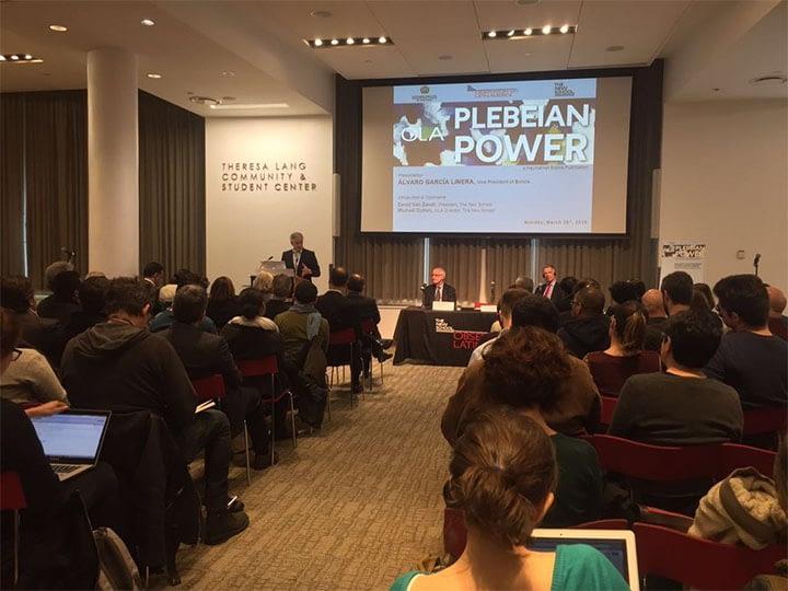 Plebeian Power: A book presentation from the Bolivian Vice President Alvaro Garcia Linera