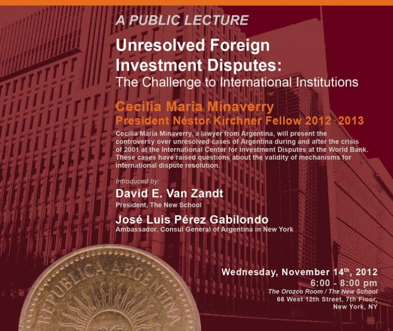 Conferencia Pública de Cecilia Minaverry, Primera Becaria PNK 2012-2013